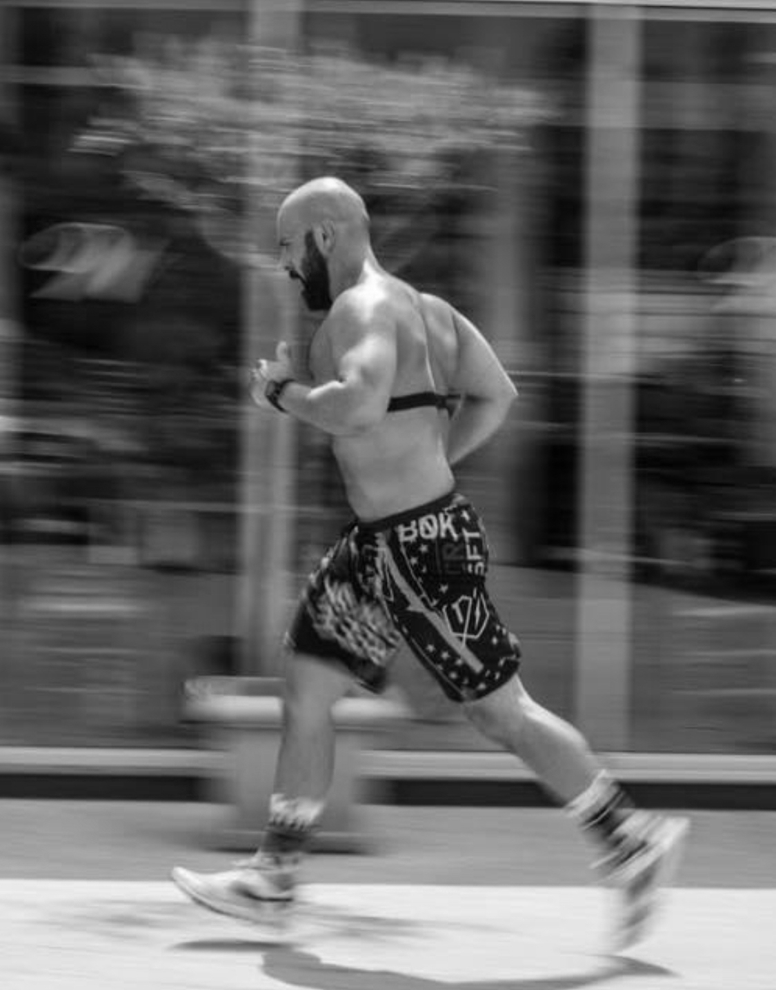 crossfit athlete running with Firstbeat Technologies